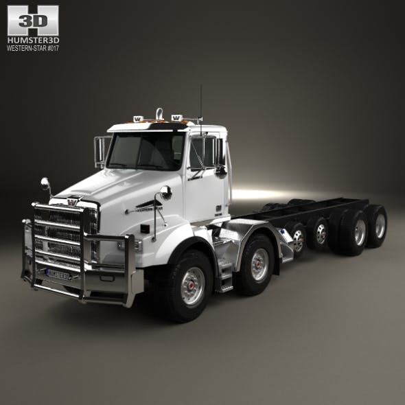 Western Star 4800 SB TS Day Cab Chassis Truck 2008 - 3DOcean Item for Sale