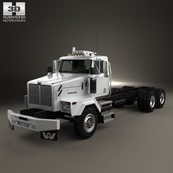 Western Star 4900 SB Day Cab Chassis Truck 2008 - 3DOcean Item for Sale