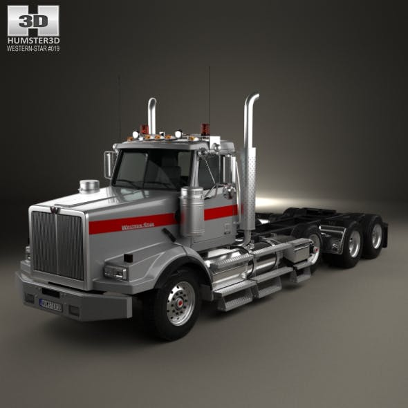 Western Star 4900 SB Day Cab Tractor Truck 2008 - 3DOcean Item for Sale