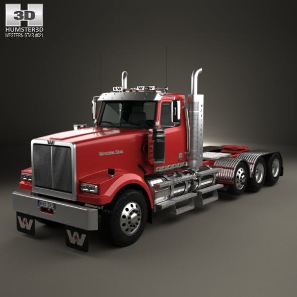 Western Star 4900 SF Day Cab Tractor Truck 2008 - 3DOcean Item for Sale