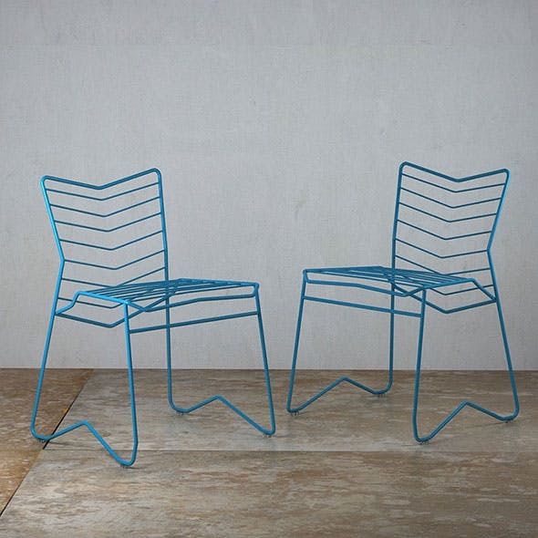 Kai Wire Chair by Daniel Lau Design - 3DOcean Item for Sale