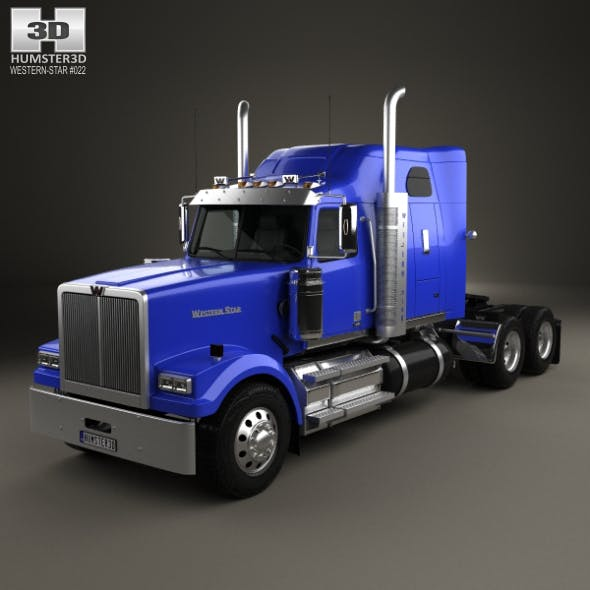Western Star 4900 SF Sleeper Cab Tractor Truck 2008 - 3DOcean Item for Sale