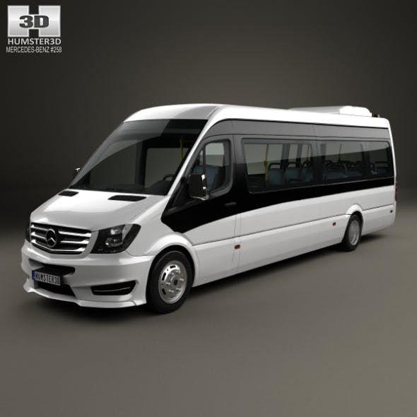 Mercedes-Benz Sprinter CUBY City Line Long Bus 2016 - 3DOcean Item for Sale