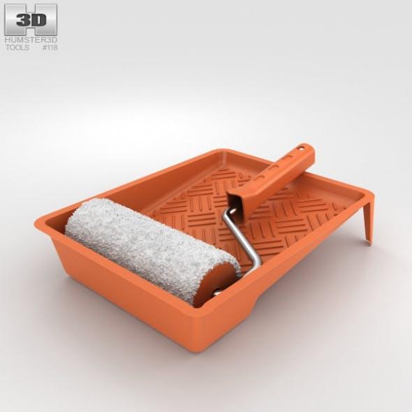 Paint Roller Kit - 3DOcean Item for Sale