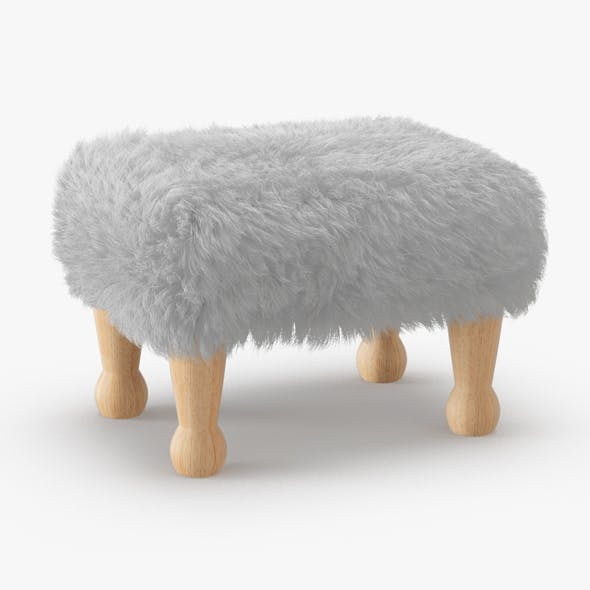 Angharad sheepskin Footstool - 3DOcean Item for Sale