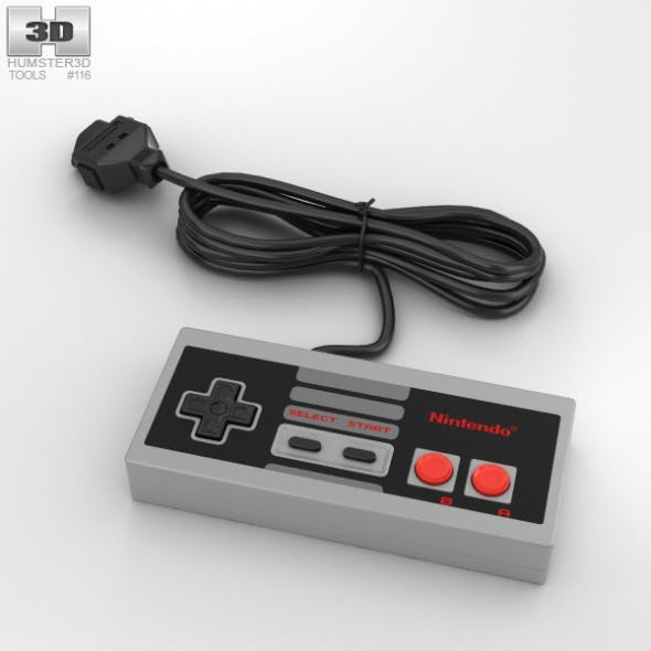 NES Controller - 3DOcean Item for Sale