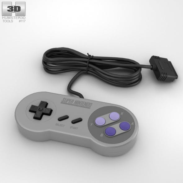 SNES Controller - 3DOcean Item for Sale