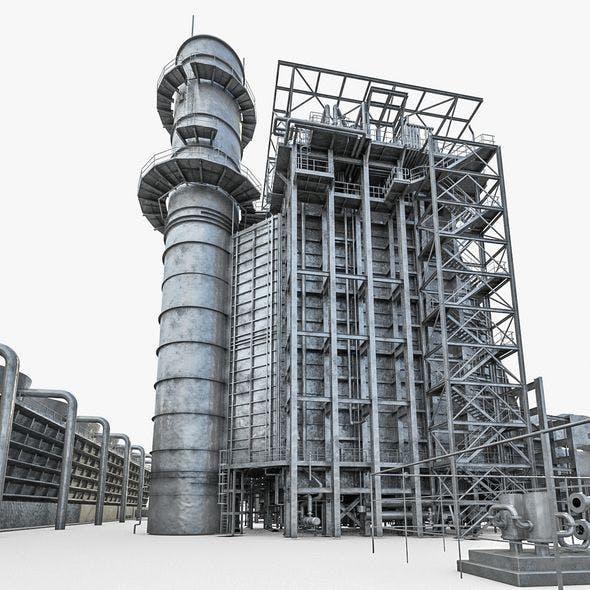 Gas Turbine Plant - Full Set - 3DOcean Item for Sale