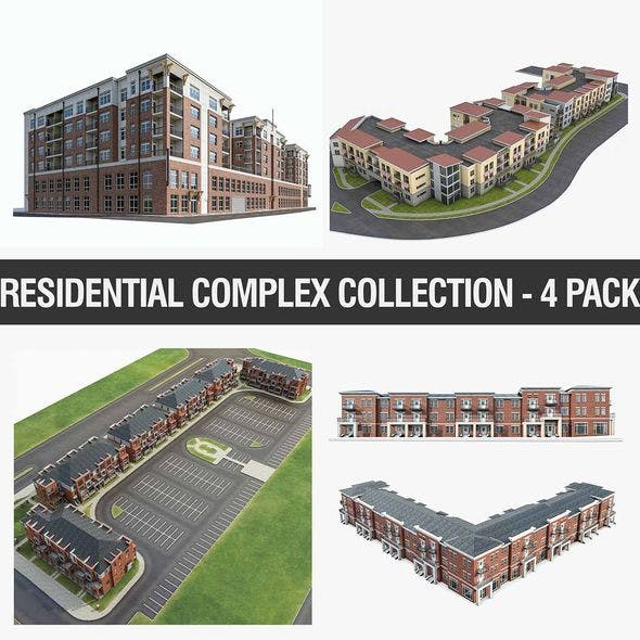 Residential Complex Collection - 4 Pack