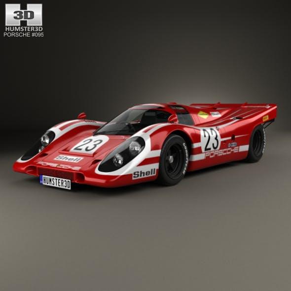 Porsche 917 K Team Salzburg 1970 - 3DOcean Item for Sale