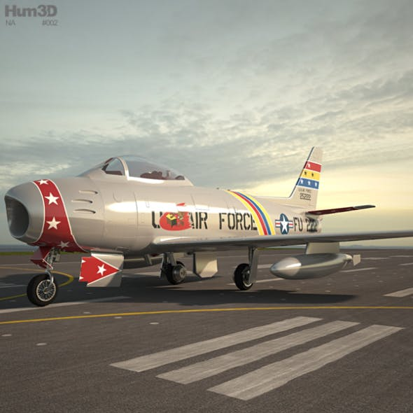 North American F-86 Sabre - 3DOcean Item for Sale