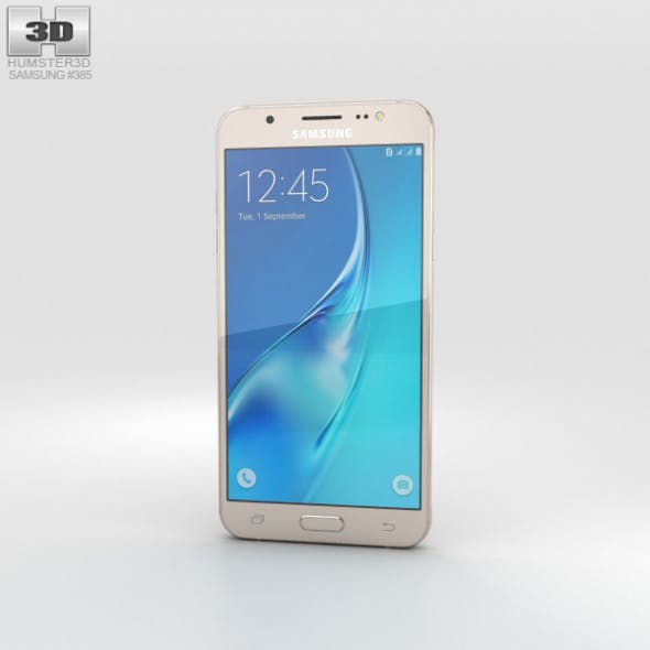 Samsung Galaxy J5 (2016) Gold - 3DOcean Item for Sale