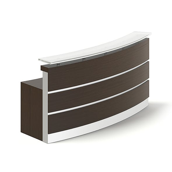 Rounded Reception Desk 3D Model