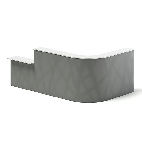 Long Rounded Reception Desk 3D Model - 3DOcean Item for Sale