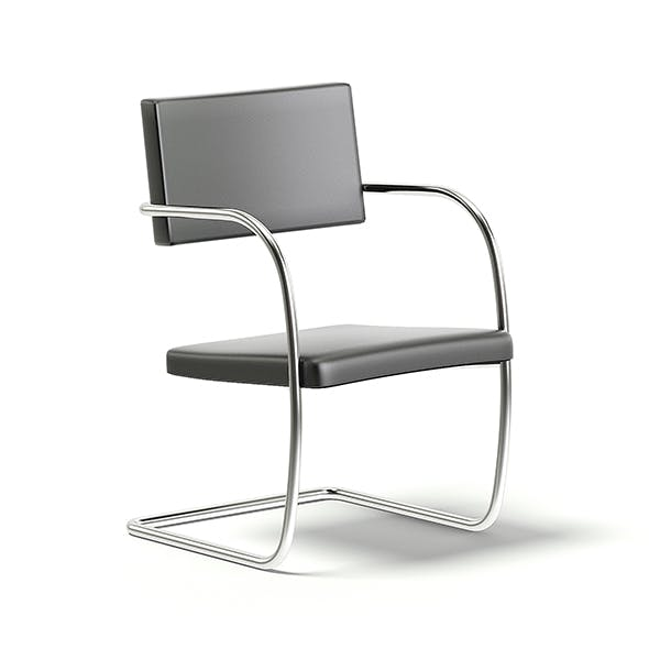 Black Leather Chair 3D Model