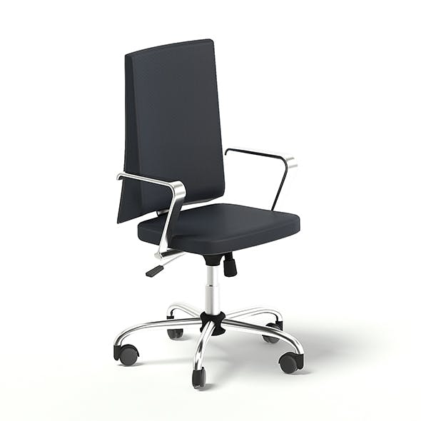 Black Swivel Chair 3D Model