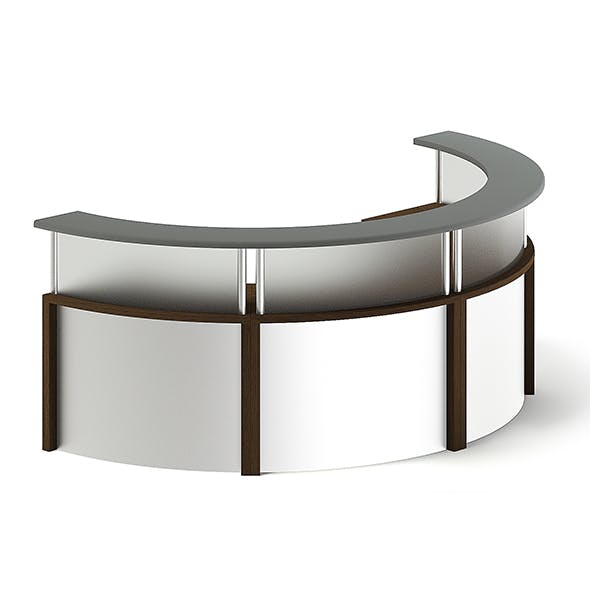 Round Reception Desk 3D Model