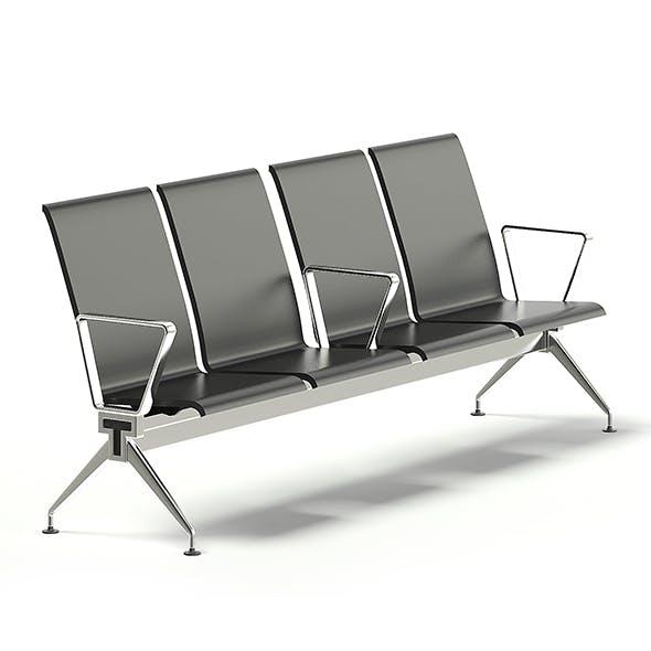 Black Waiting Chairs 3D Model