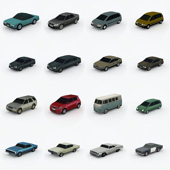 3D model Low Poly Cars Pack Vol. 2