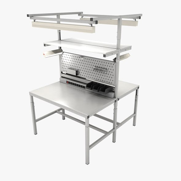 Dual adjustable working table «Island» - 3DOcean Item for Sale