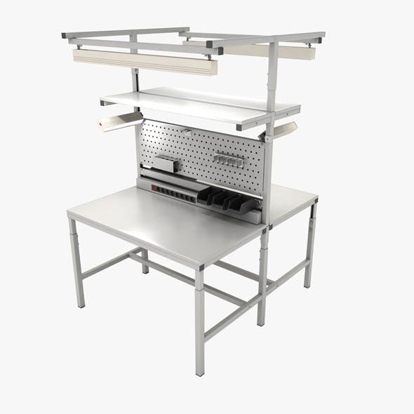 Dual adjustable working table «Island»