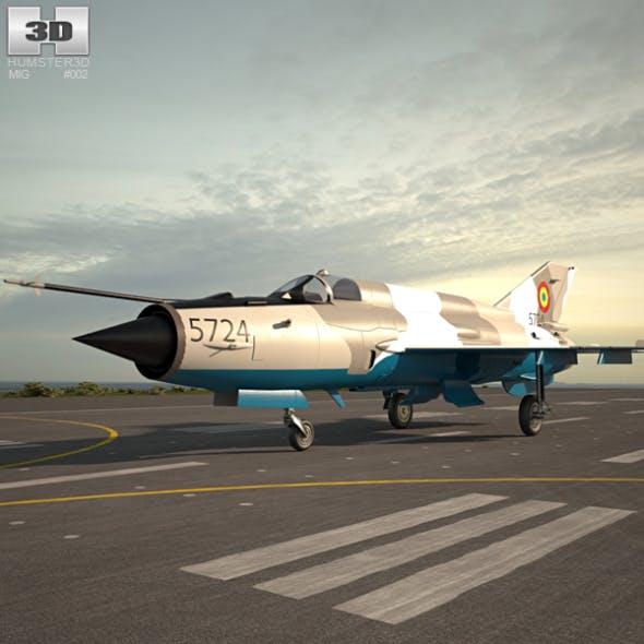 Mikoyan-Gurevich MiG-21 - 3DOcean Item for Sale