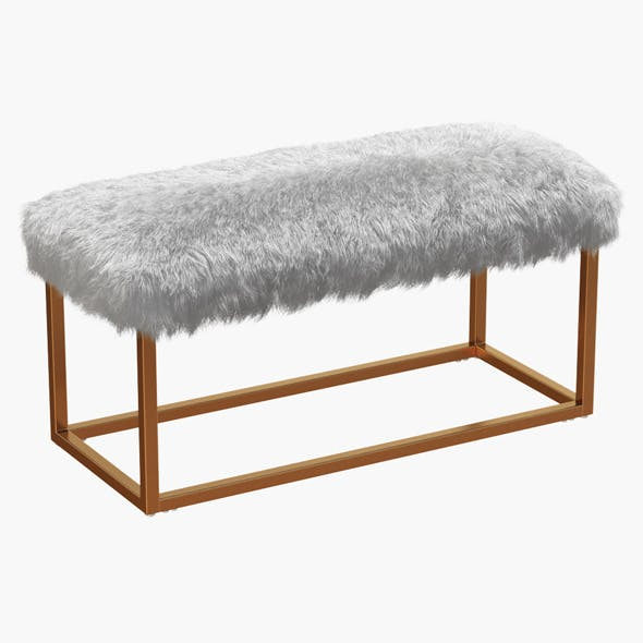 Bostrom Upholstered Bench - 3DOcean Item for Sale