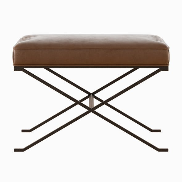 Haven X Leather Bench - 3DOcean Item for Sale