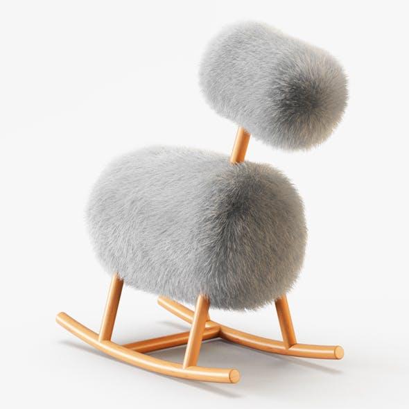 HiHo Sheepskin Rocker - 3DOcean Item for Sale
