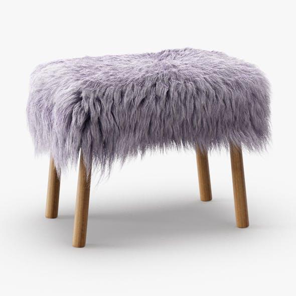 Icelandic Sheepskin Stool - 3DOcean Item for Sale