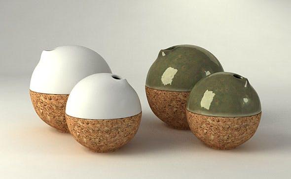 Cork Bubble Vase by Studio A - 3DOcean Item for Sale