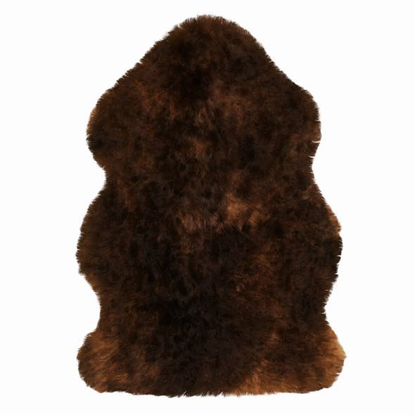 Luxe Fudge Brown Sheepskin Rug - 3DOcean Item for Sale