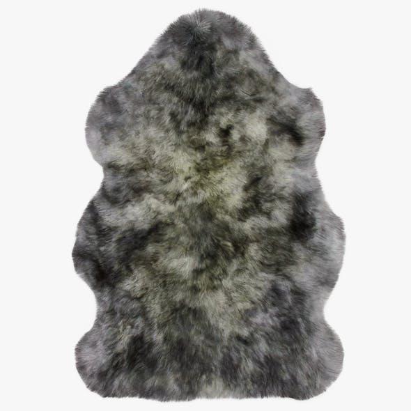 Luxe Mist Grey Sheepskin Rug - 3DOcean Item for Sale