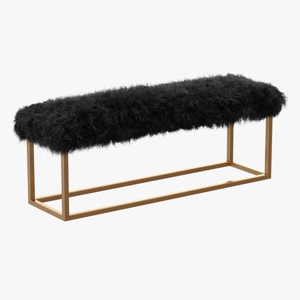 Mabel Upholstered Bench - 3DOcean Item for Sale