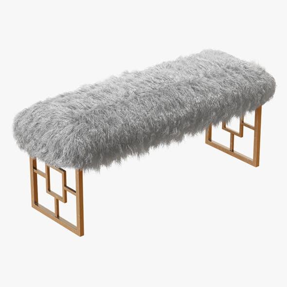 Morris Upholstered Bench - 3DOcean Item for Sale