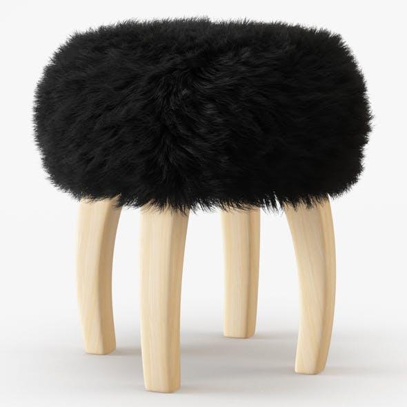 Patagonia Sheepskin Stool - 3DOcean Item for Sale