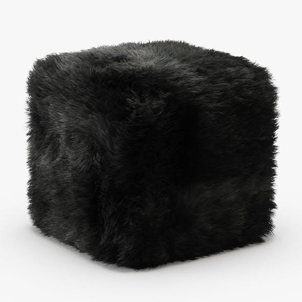 Pure Sheepskin Luxury Foot Stool - 3DOcean Item for Sale