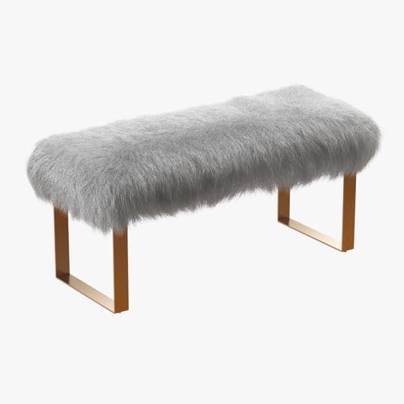Shailiene Sheepskin Bench