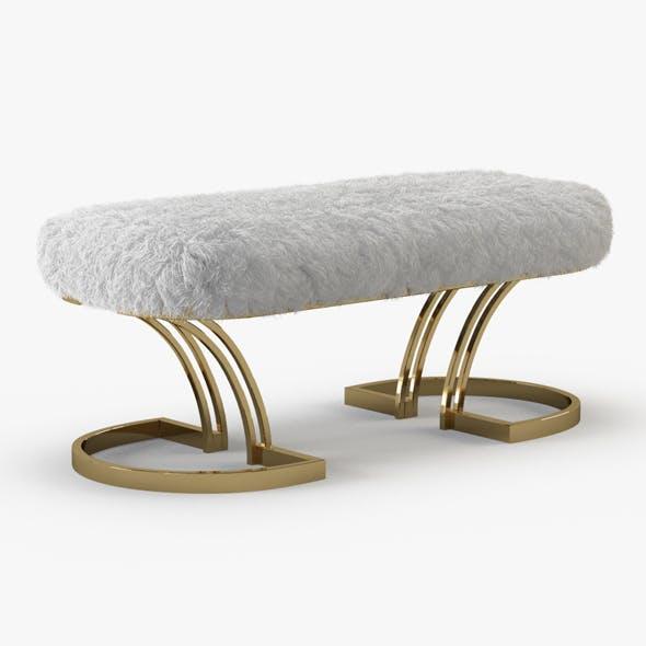 Sheepskin Brass Bench - 3DOcean Item for Sale