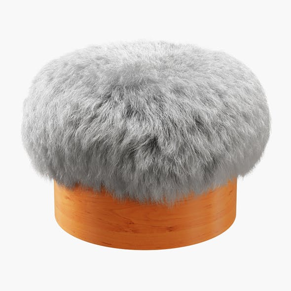 Sheepskin Foot Stool - 3DOcean Item for Sale