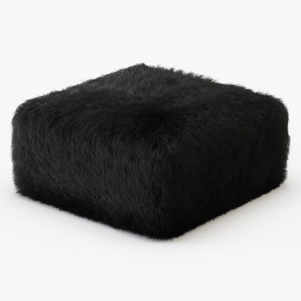 Sheepskin Pouf - 3DOcean Item for Sale