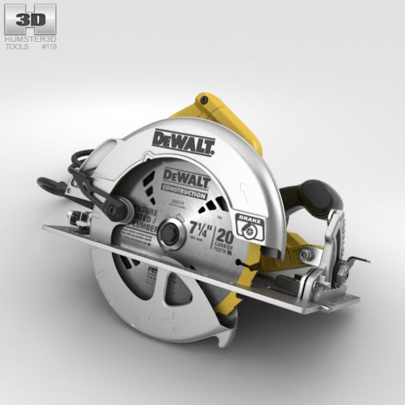 Dewalt Circular Saw - 3DOcean Item for Sale