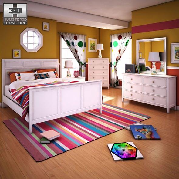 Ashley Caspian Panel Bedroom Set