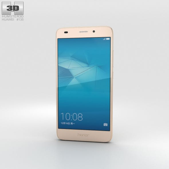 Huawei Honor 5c Gold - 3DOcean Item for Sale
