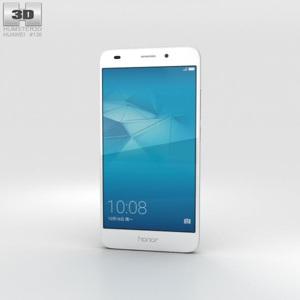 Huawei Honor 5c Silver - 3DOcean Item for Sale
