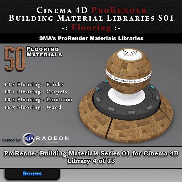 50 x ProRender PBR Flooring Materials for Cinema 4D