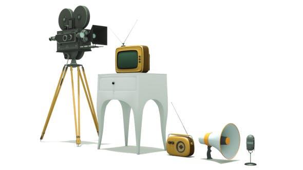Set of old appliances - 3DOcean Item for Sale