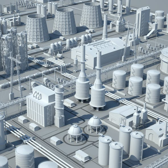 Low Poly Factory Pack