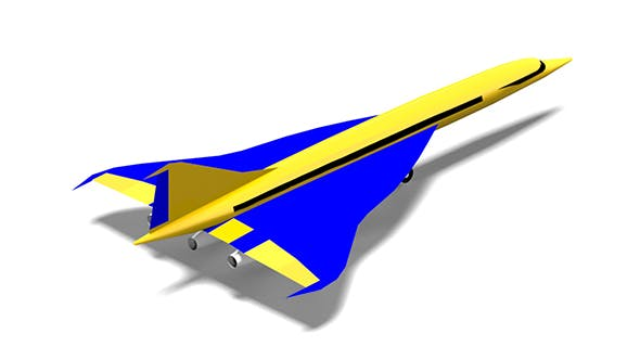 Aircraft Supersonic Concept - 3DOcean Item for Sale