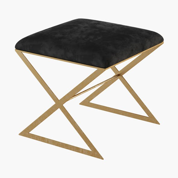 X-Side Gold Leaf Stool